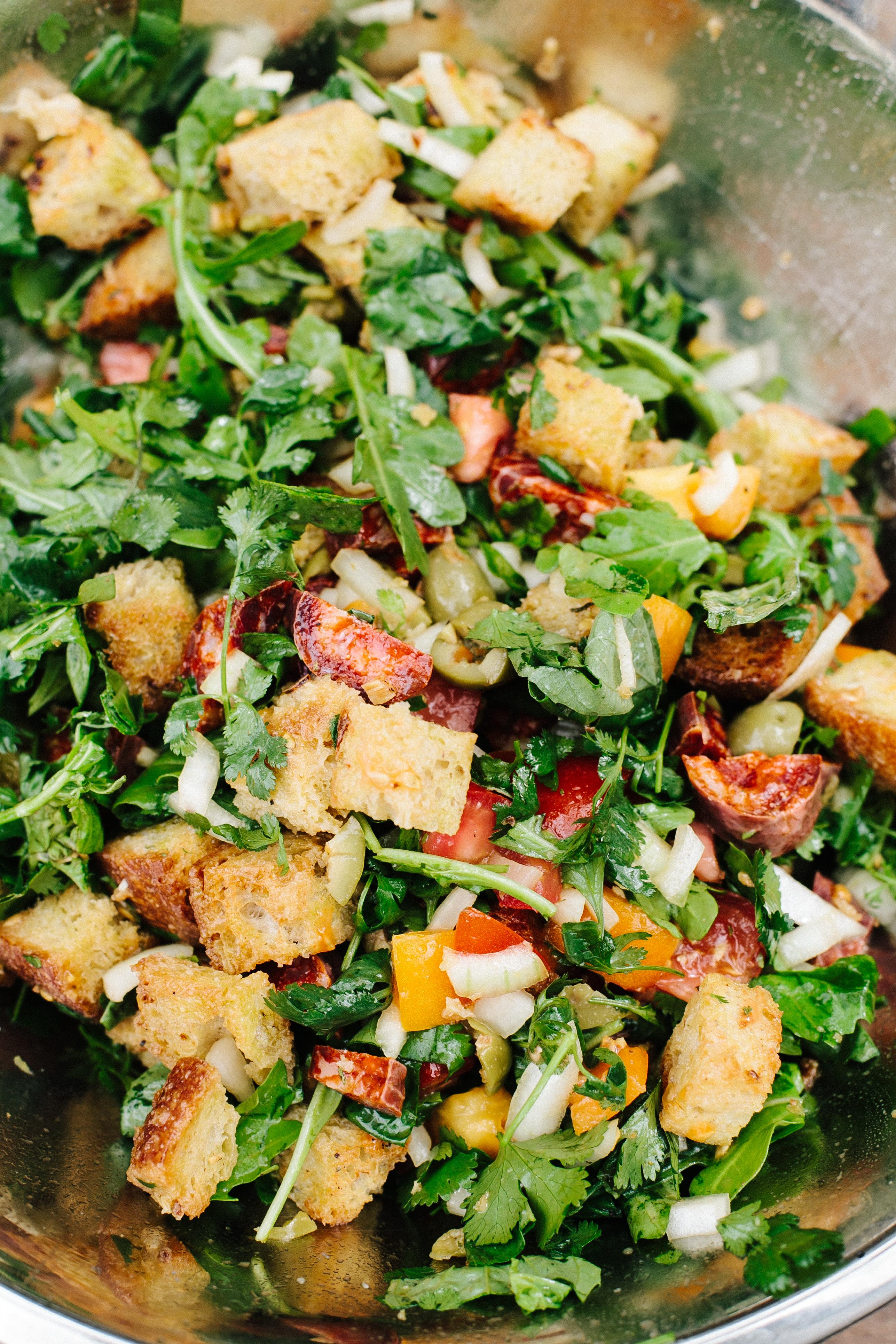 Smoked Chicken & Chorizo Panzanella + giveaway