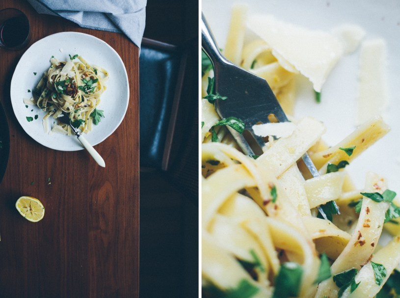 Pasta with Walnuts, Lemon and Herbs // Notwithoutsalt.com