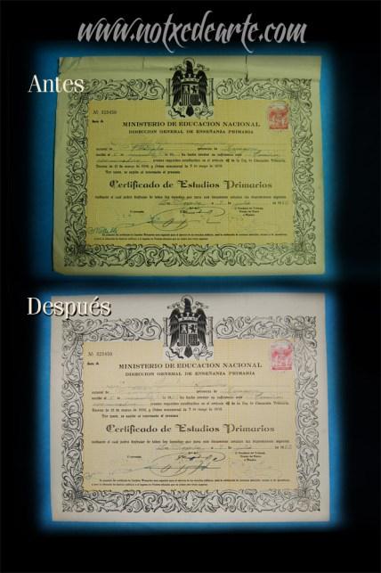 Restauración documento gráfico