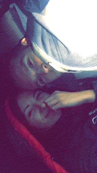 Camping Snapchat Selfie