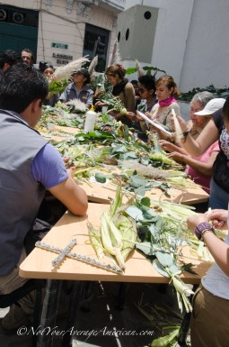 The day we visited, locals were making bouquets out of environmentally friendly products for Palm Sunday.