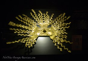 A stunning mask of gold.