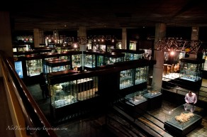 The main collection of ancient pottery at the Casa de la Cultura.