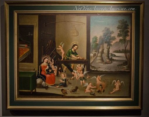 The Casa de la Cultura has a collection of many religious paintings. This is one of my favorites.