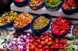Peppers in many varieties not available in the average grocery store.