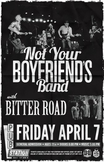Not Your Boyrfriends Band with Becky Sappington and the Bitter Raod April 7 Bilings MT