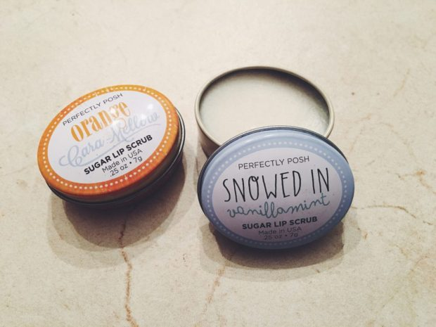 Two Perfectly Posh lip scrubs