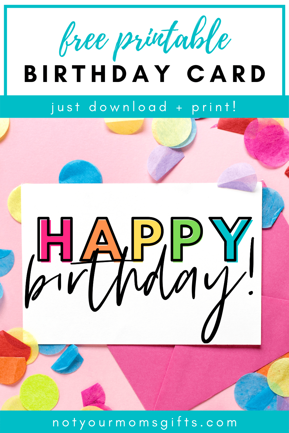 Free Printable Birthday Card Half Fold Not Your Mom S Gifts