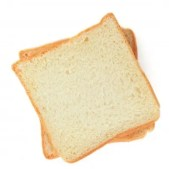 two slices of white bread