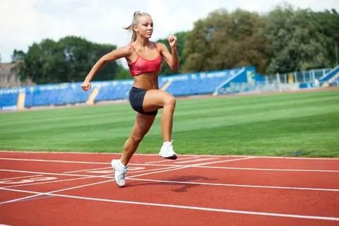 girl sprinting