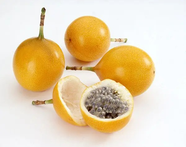 Four granadilla fruits