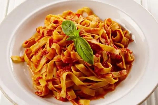 Tomato pasta dish in Bella Italia