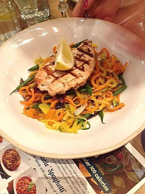 Bella Italia spiralised vegetable dishes