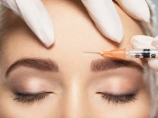 close up of Botox injection