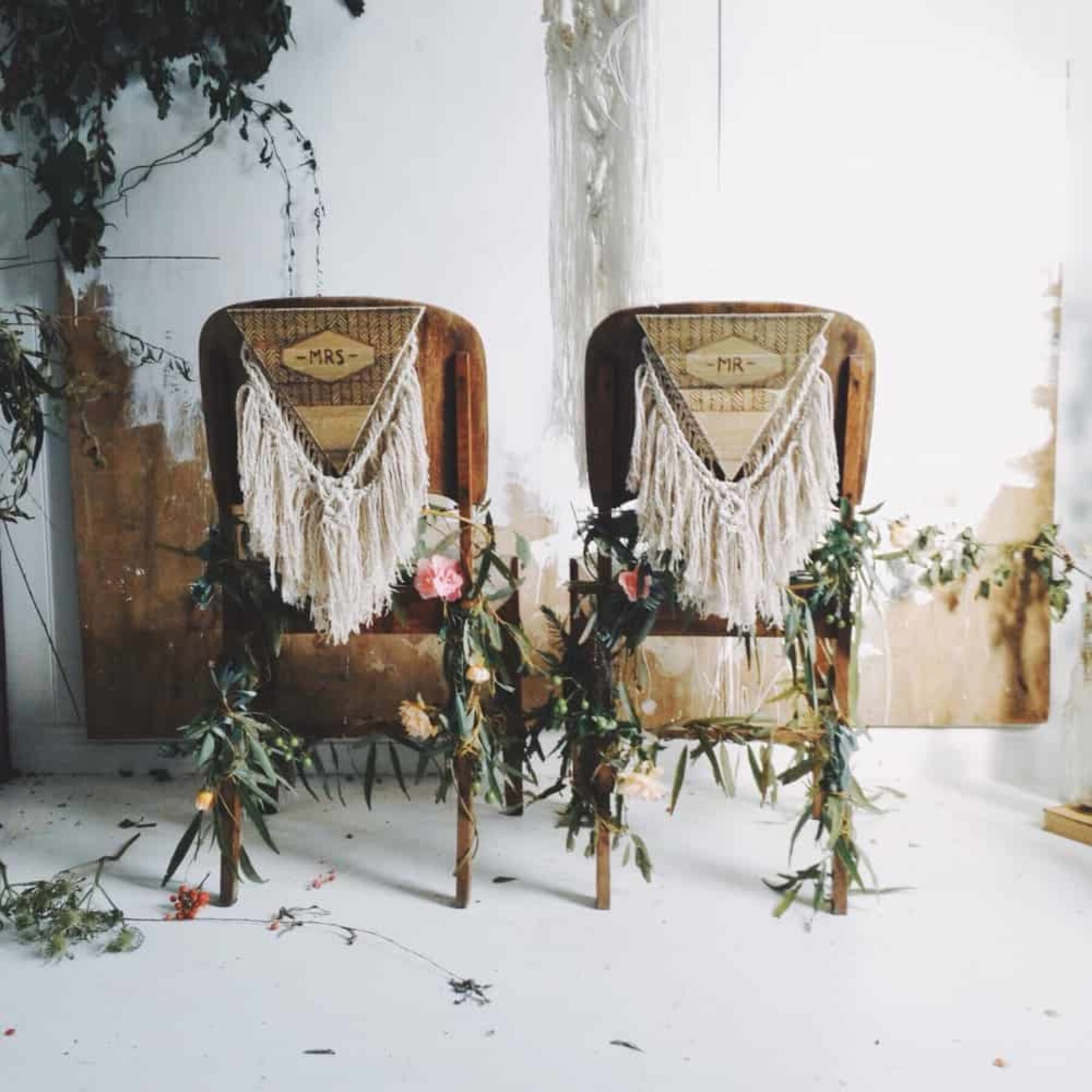 wedding bride and groom chairs union terrace styleboard textural nouba au