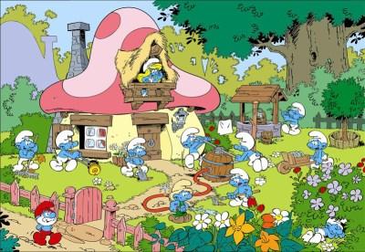 Village schtroumpf - Smurf village