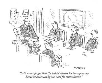 Transparency concealment cartoon