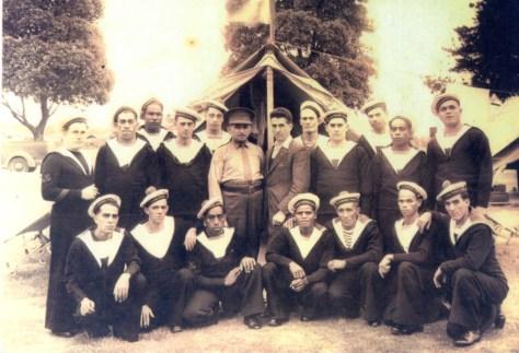 Le groupe de marins calédoniens à Sydney - Photo Ferdinand Courtot