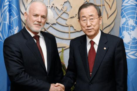 Peter Thomson avec le Secrétaire Général Ban Ki-moon