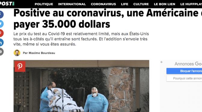 AUX USA, PAS D'ARGENT, PAS DE SOINS ! 3,5 millions pour se faire soigner du Covid-19