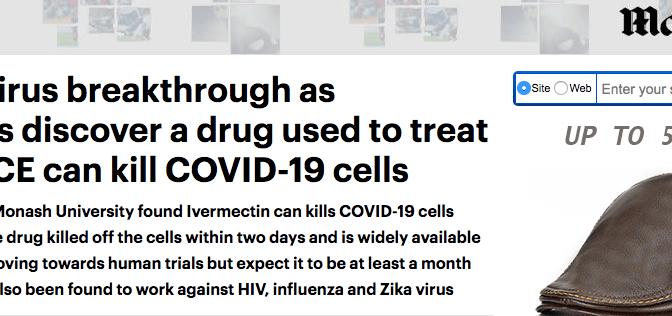 Le Covid-19 tué en 48h grâce à l'ivermectine utilisée par des chercheurs australiens dans des essais en laboratoire
