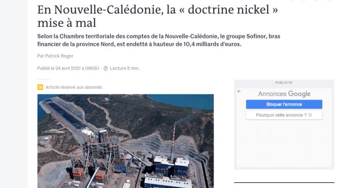 SOFINOR/SMSP : LE RAPPORT DE LA CTC FAIT DES VAGUES JUSQU'À PARIS