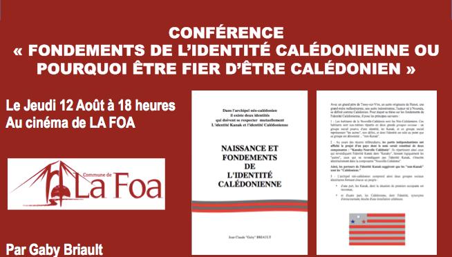 CONFÉRENCE À LA FOA SUR «L'IDENTITÉ CALÉDONIENNE»