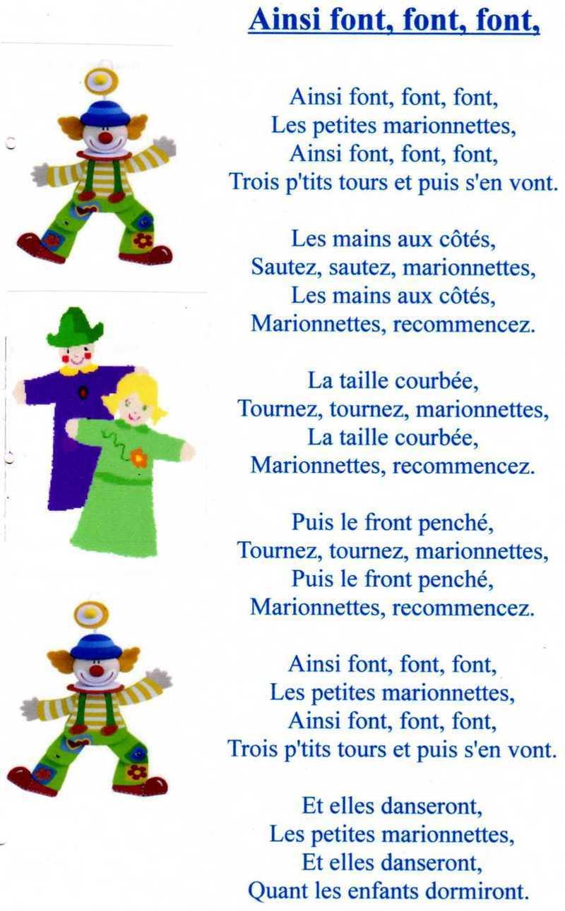 Ainsi Font Font Font Les Petites : ainsi, petites, Comptine, Ainsi, Font,