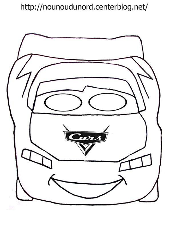 Masque cars à imprimer