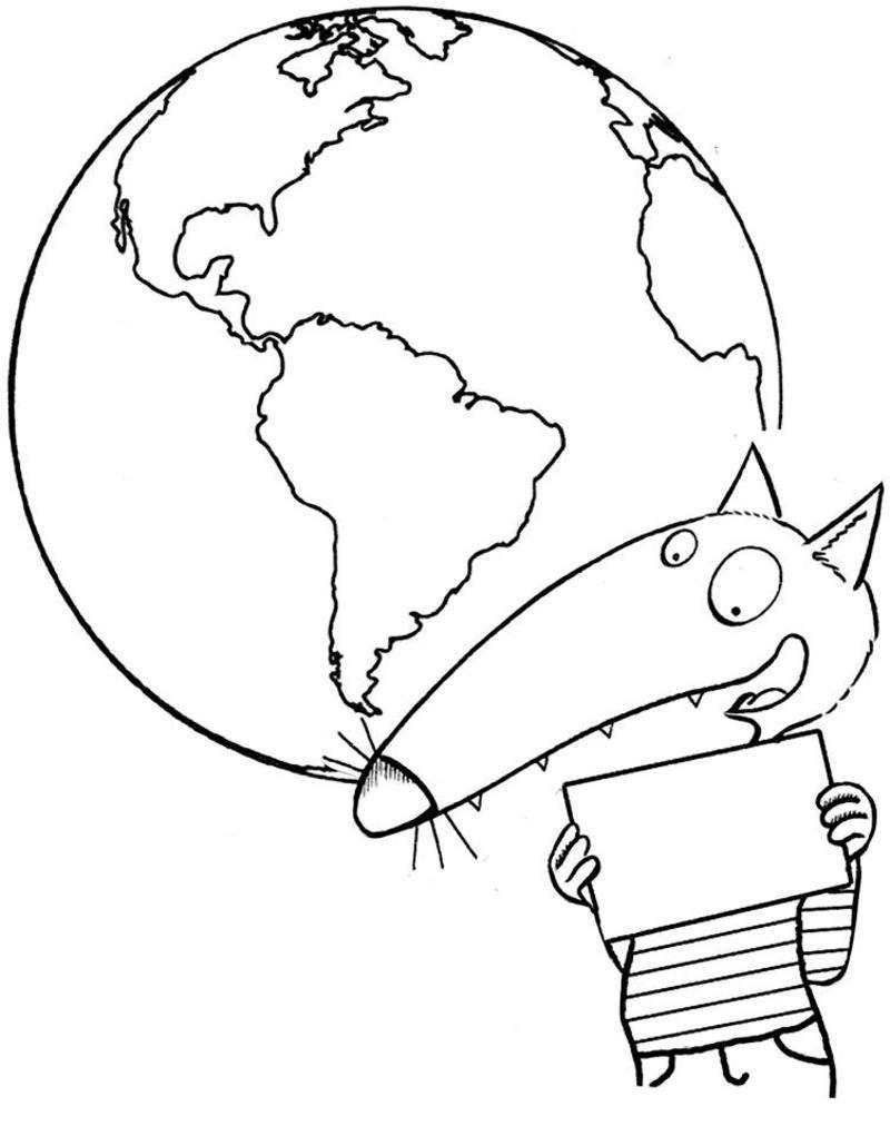 Le Loup Qui Voulait Faire Le Tour Du Monde Coloriage : voulait, faire, monde, coloriage, Coloriage