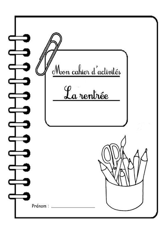 Page de garde cahier d'activités