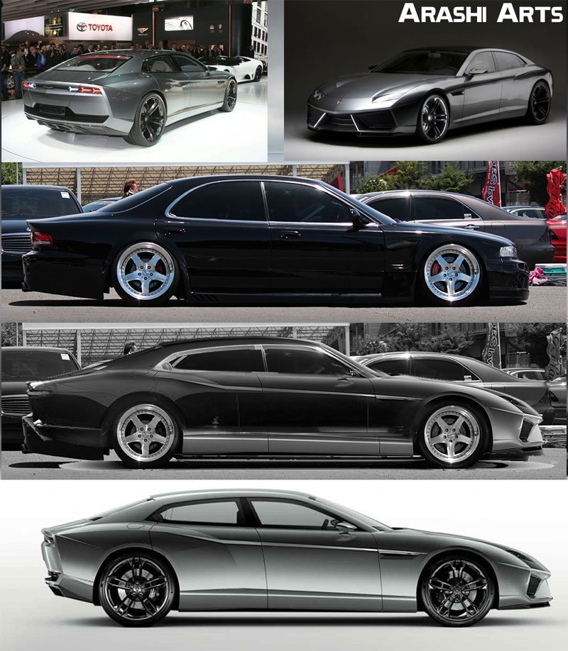 image - Collection of super sedan cars - picture is purely indicative