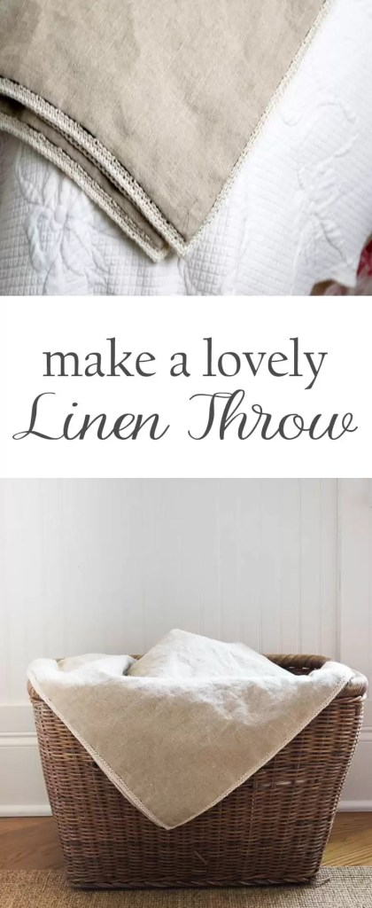 Make a lovely linen throw, perfect for the warmer months. Easy to follow, simple directions. Great for gifts or for your own home decor.