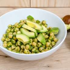 An easy, low-fat, vegetarian and gluten-free Cilantro Chickpea salad recipe. Perfect to make ahead for quick lunch meals or as a side dish.