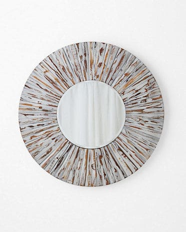 Garnet Hill Whitewash Wooden Mirror