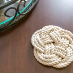 Kitchen Makeovers Outdoor Design Plans Diy Coasters & Trivets Using Turk's Head Knot • Nourish ...