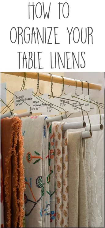 How to organize your table linens and pantry and declutter your kitchen. Unclutter/Clean/Organize