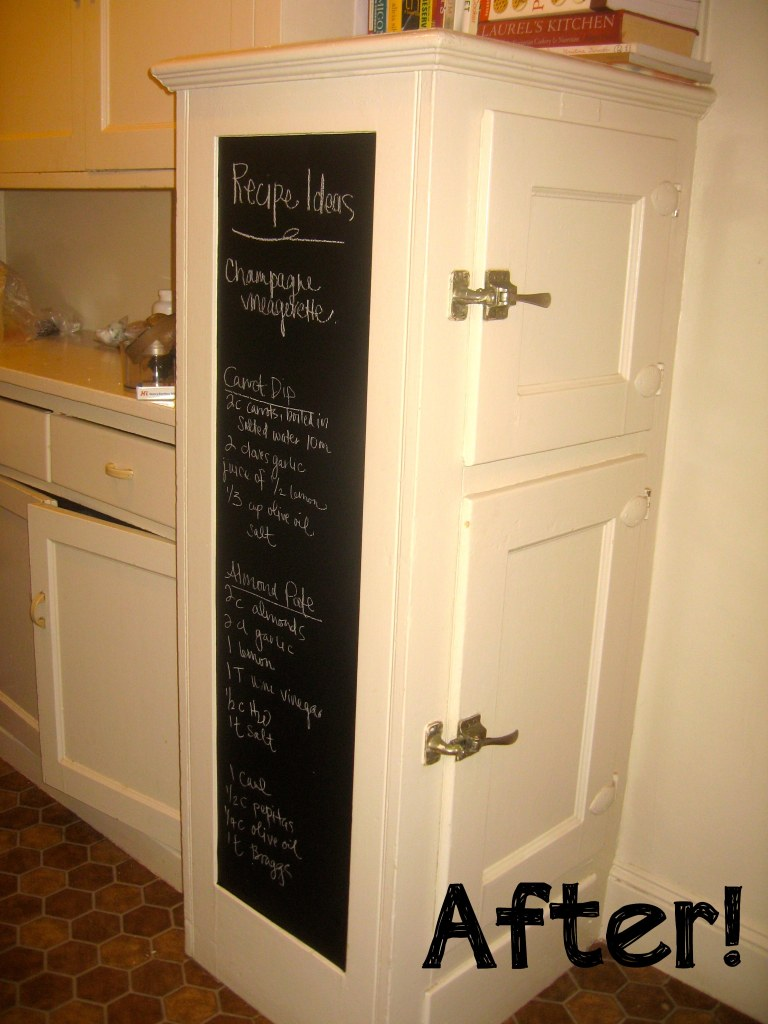 Black contact paper chalkboard to write a menu or list