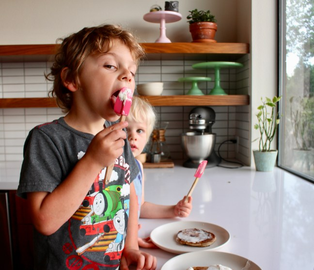 Boys homemade whipped cream