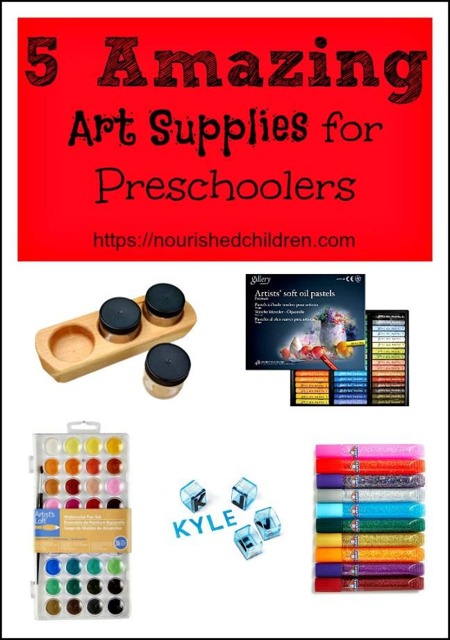 5 Amazing Art Supplies for Preschoolers