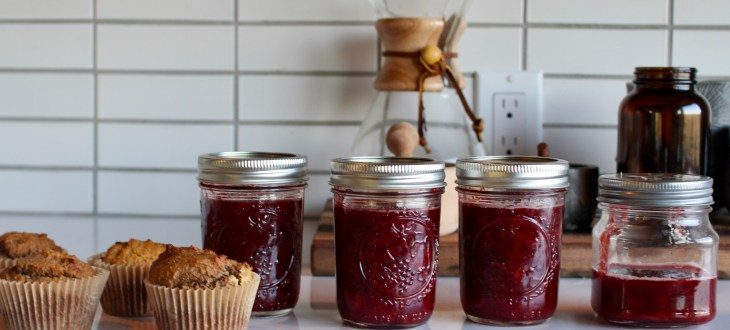Homemade Jars of Strawberry Jam