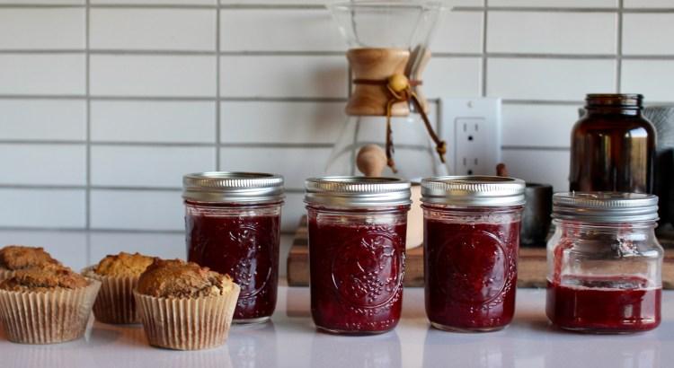 Homemade Jars of Strawberry Jam
