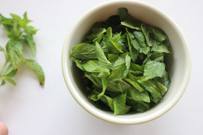 fresh picked mint