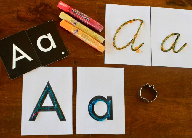 Next, we created our texture letters