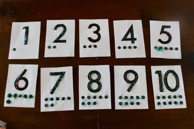 number cards