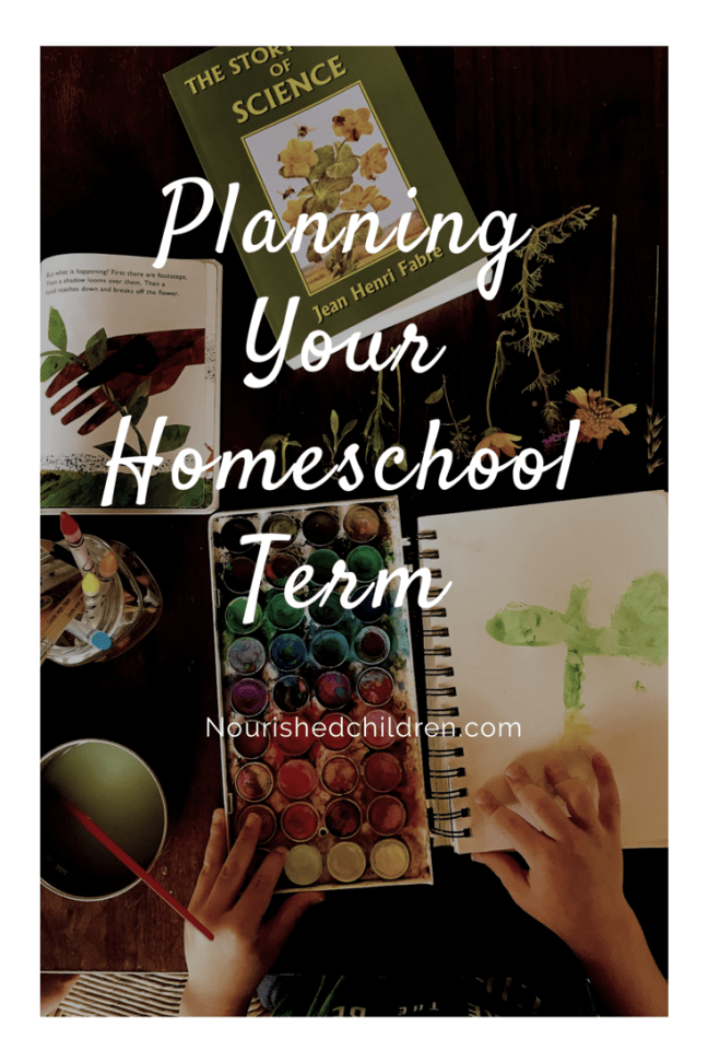 Planning Your Homeschool Term
