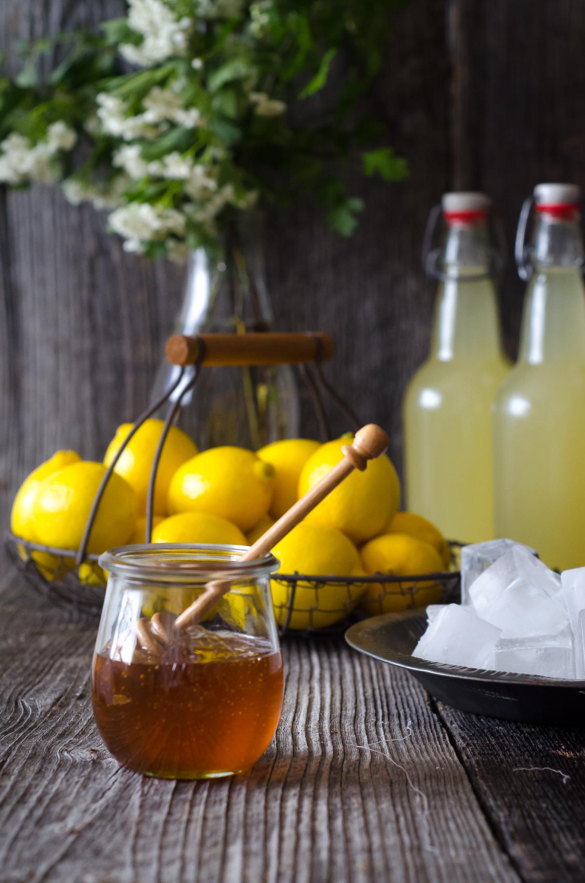 Naturally Fermented Probiotic Honey Lemonade Soda