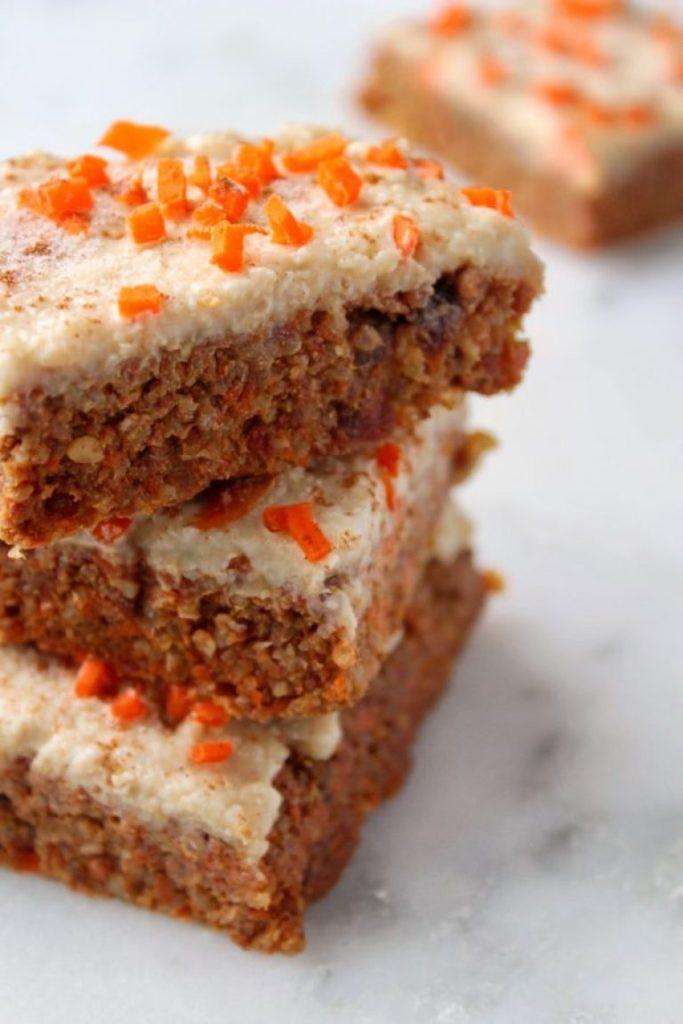 Easy Carrot and Cardamon Quinoa Bars