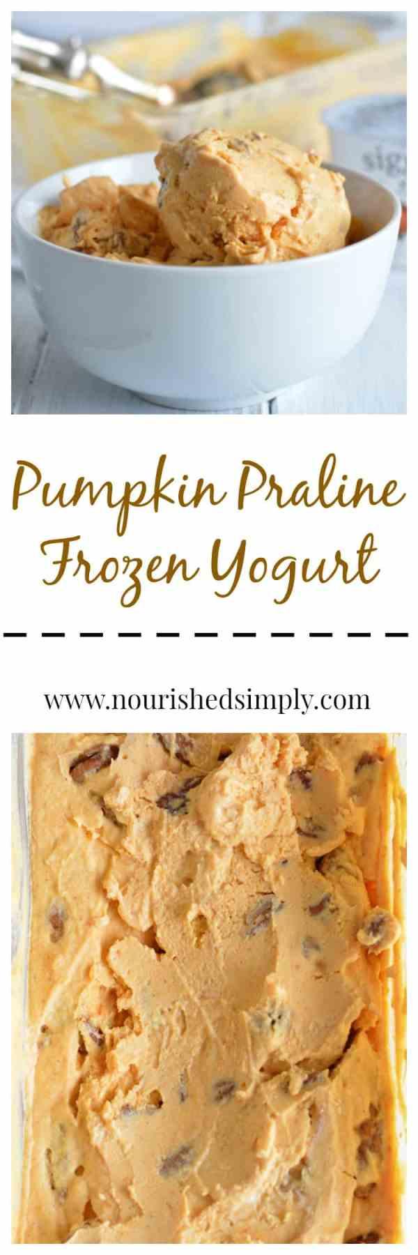 Pumpkin Praline Frozen Yogurt Nourished Simply