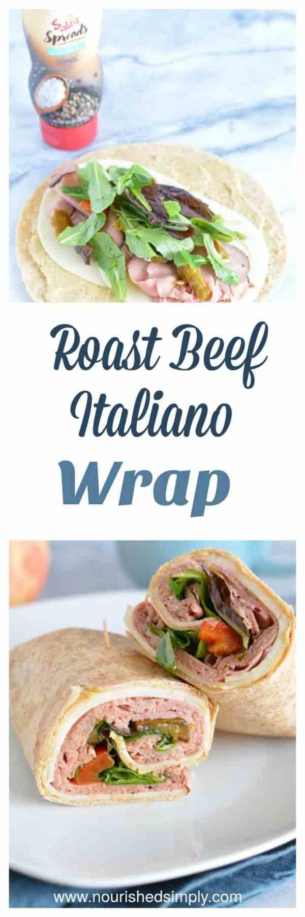 Roast Beef Italiano Wrap Nourished Simply